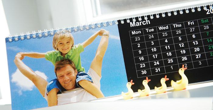 Een gepersonaliseerde Kalender met uw eigen foto's !