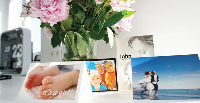 Imrpimez vos Cartes personnalisées avec vos photos préférées
