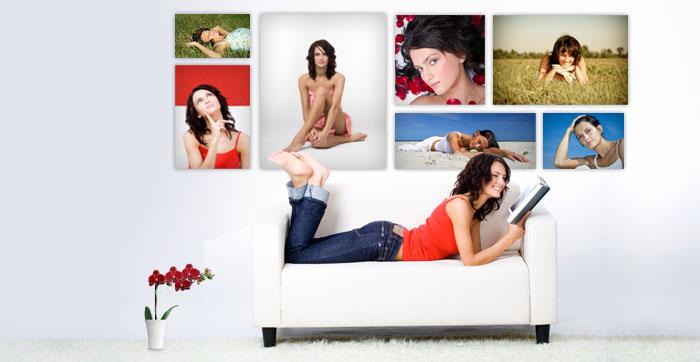 Uw foto's op groot formaat om uw interieur te versieren