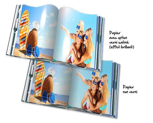 Option verni satiné sur les pages de votre Livre Photo Regular